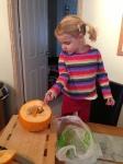 Halloween Pumpkin Scooping