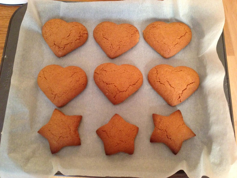 Gingerbread Biscuits Baked