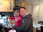 Coffee and walnut cake preparation